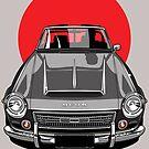 Datsun 2000 Fairlady Roadster SR 311 Rising Sun Art by Tom Mayer