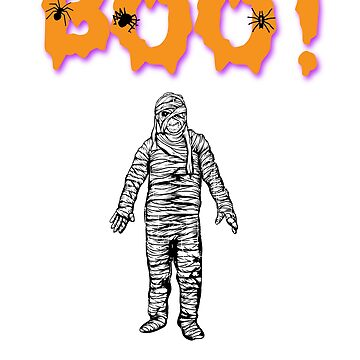Boo! Mummy Halloween Holiday T shirt by we1000