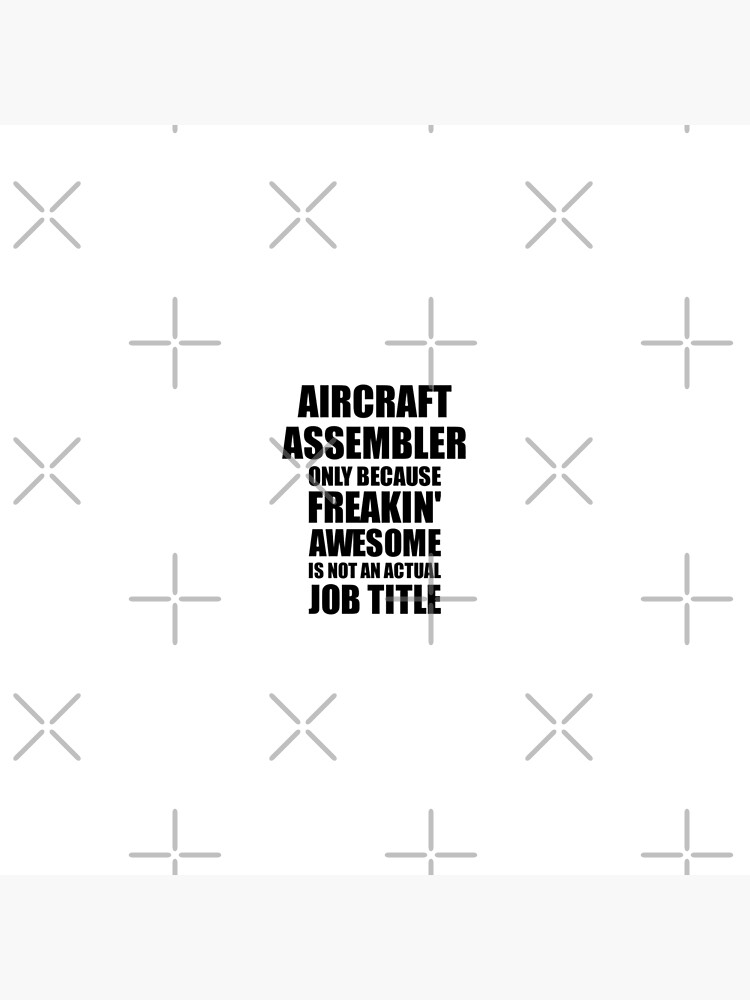 Aircraft Assembler Freaking Awesome Funny Gift Idea for Coworker Employee Office Gag Job Title Joke von FunnyGiftIdeas