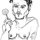 Johnny Depp holds a lollipop by adrienne75