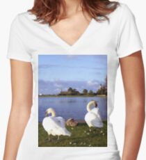 Family gathering. Women's Fitted V-Neck T-Shirt