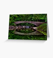 Bridge Over Still Water Greeting Card