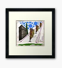 Monsters on the loose Framed Print
