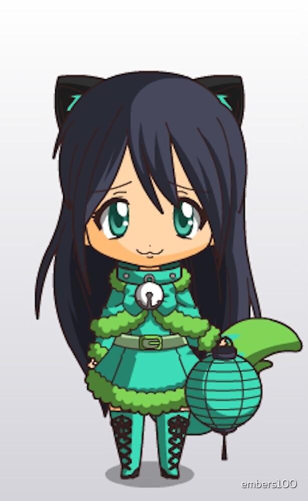 Cat Girl chibi by embers100