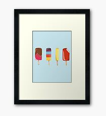 Little Ice Lollies Framed Print
