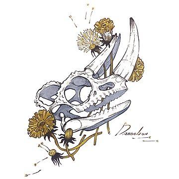MorbidiTea - Dandelion with Chameleon Skull by MicaelaDawn