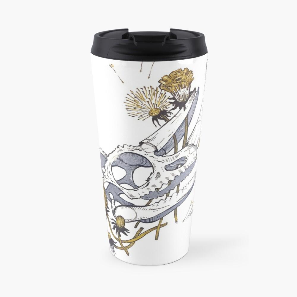MorbidiTea - Dandelion with Chameleon Skull Travel Mug
