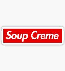 Soup Creme Funny Parody Logo Sticker