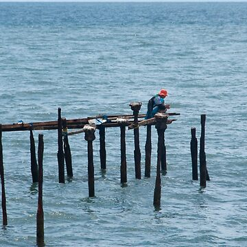 Fishing from the Old Jetty by fotoWerner