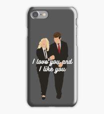 I Love You and I Like You iPhone Case/Skin