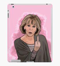 Vinilo o funda para iPad Gracia dedo medio con fondo