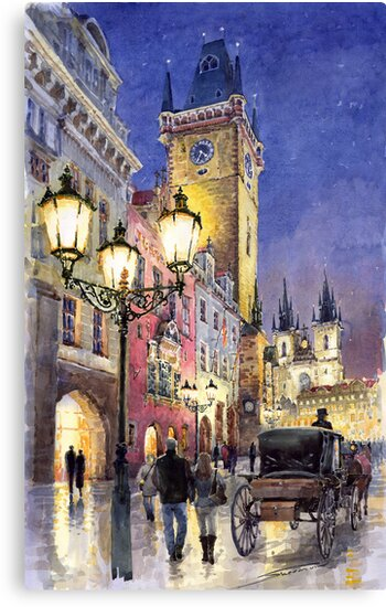 Prague Old Town Square 3 by Yuriy Shevchuk