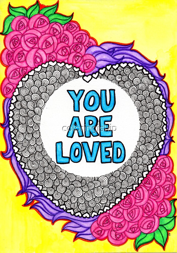Watercolor Doodle | You Are Loved by coloringiship