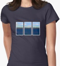 Ocean View - Triptych Women's Fitted T-Shirt