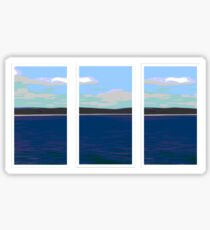 Ocean View - Triptych Sticker