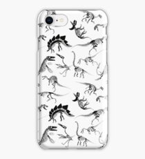 Dinosaur Skeleton Diagrams iPhone Case/Skin