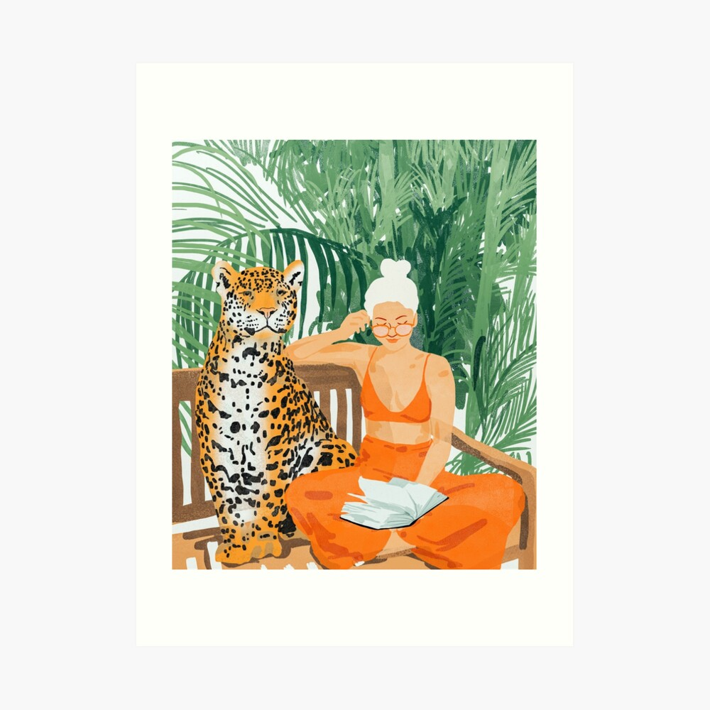Jungle Vacay II #painting #illustration Art Print