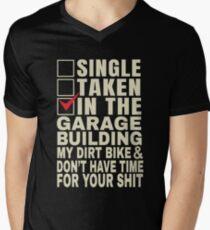 Funny Dirt Bike Mechanic gift Single Taken Motocross Garage Supercross 2019 V-Neck T-Shirt
