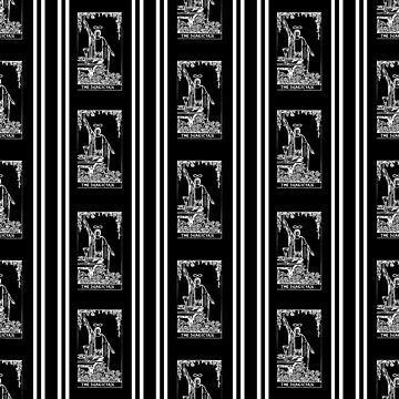 Black and White Repeating Tarot Pattern - The Magician by annaleebeer