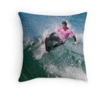 Drop Knee Body boarder Throw Pillow