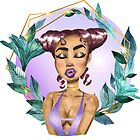 Metro&medio Designs - Purple Kiss Pin-up by metroymedio