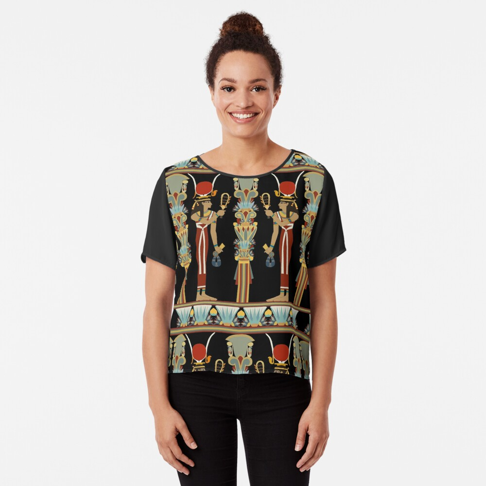 Hathor - Mistress of the Offering Chiffon Top