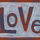 Love blue and rust by Jennifer Mazzucco