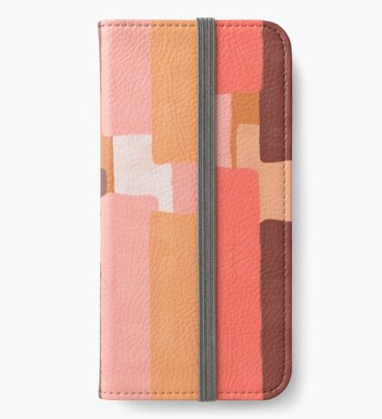 Line In Coral #redbubble #abstractart iPhone Wallet