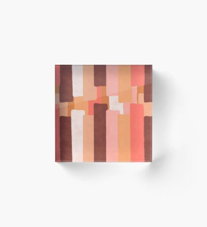 Line In Coral #redbubble #abstractart Acrylic Block