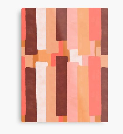 Line In Coral #redbubble #abstractart Metal Print