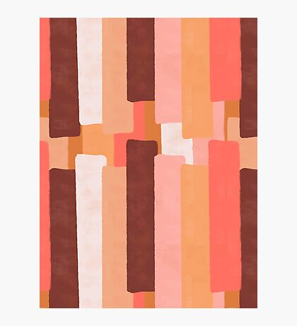 Line In Coral #redbubble #abstractart Photographic Print