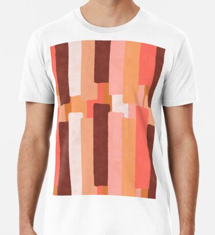 Line In Coral #redbubble #abstractart Premium T-Shirt