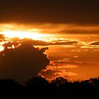 sun set storm cloud by Terri  Kruithof