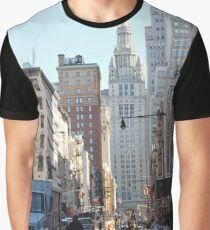 #skyscraper, #sky, #cityscape, #city, #street, #road, #architecture, #travel, #NewYorkCity, #Manhattan, #DownTown, #NYC Graphic T-Shirt