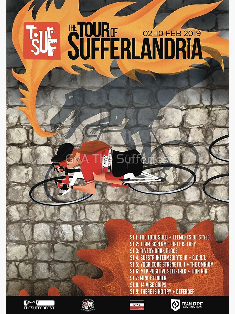 Tour of Sufferlandria 2019 Poster - Female Rider | Poster