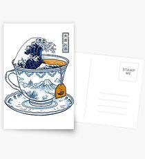 The Great Kanagawa Tea Postcards