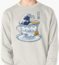 Sudadera sin capucha El gran té de Kanagawa