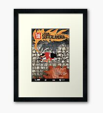 Tour of Sufferlandria 2019 Poster - Male Rider Framed Print