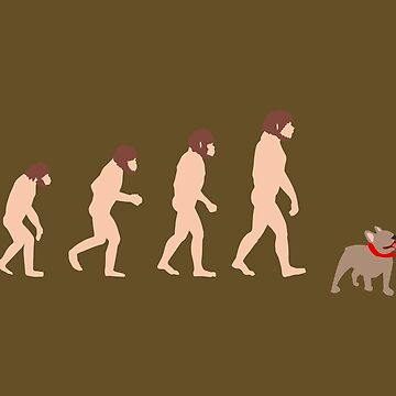 Human Evolution Man with French Bulldog - Gift Idea by vicoli-shirts