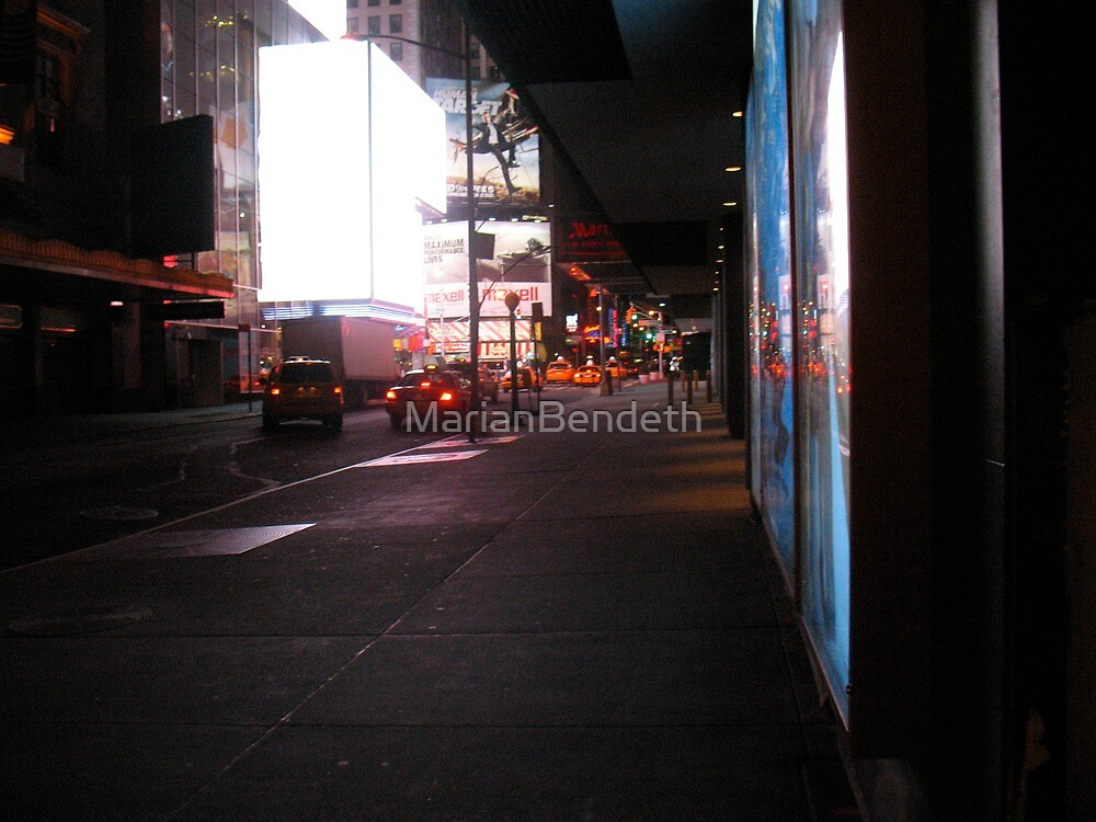 They Say the Neon Lights are Bright on Broadway by MarianBendeth