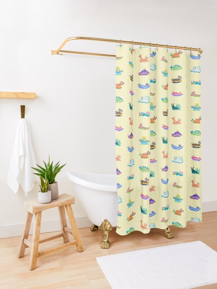 Alternate view of Sea slug Shower Curtain