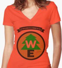 Wilderness Explorer Women's Fitted V-Neck T-Shirt