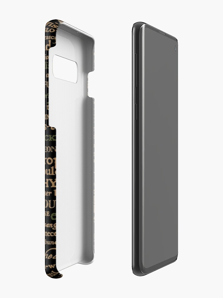 Alternate view of Shakespeare Insults Dark - Revised Edition (by incognita) Case & Skin for Samsung Galaxy