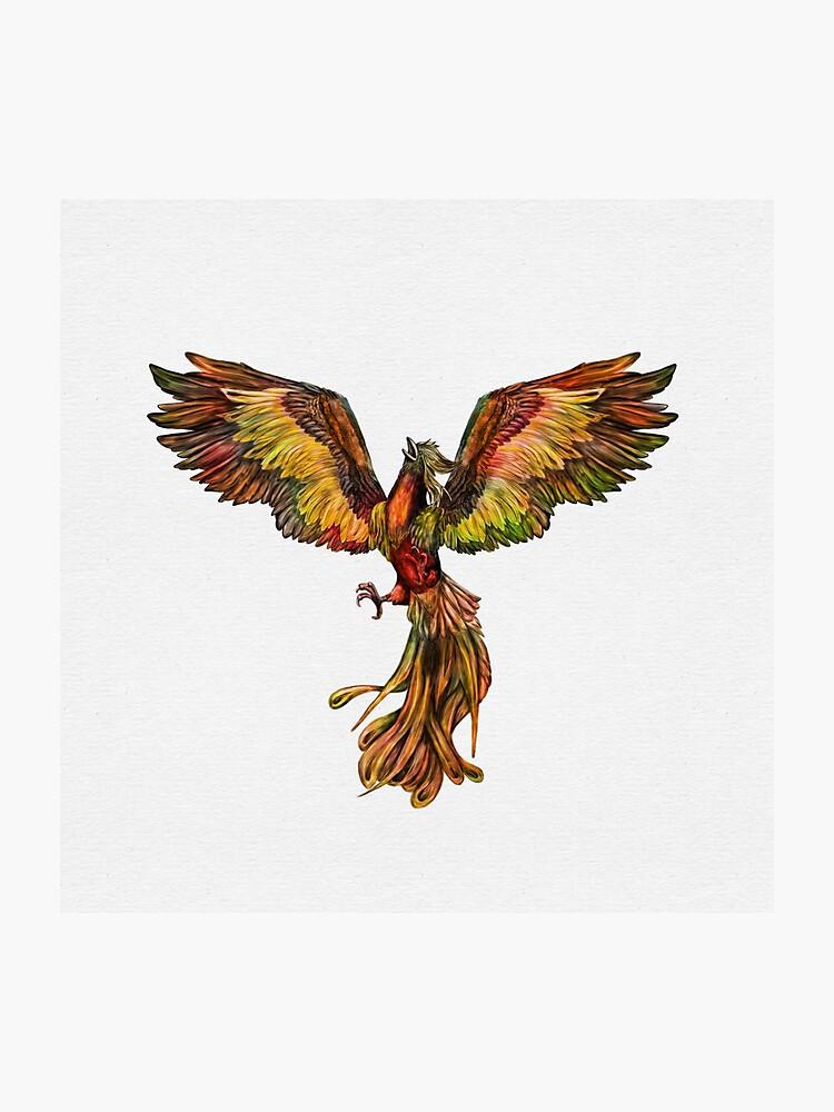 Phoenix Rising - color on canvas   Photographic Print