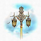Victorian Street Light With Seagulls by Dorothy Berry-Lound