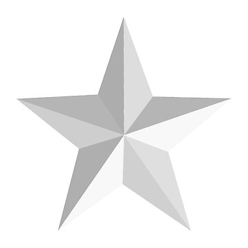 STAR, Black and White, Barn Star on White by TOMSREDBUBBLE