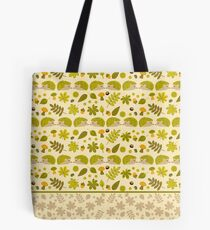 Hedgehogs in the Green Fall Tote Bag