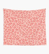 leopard dots   Living Coral Wall Tapestry