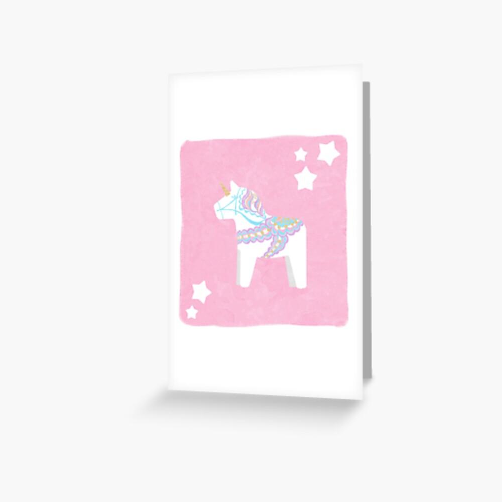 Einhorn Dala Pferd Grußkarte