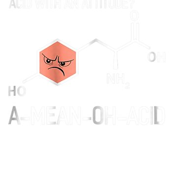 Humor Nerdy Chemistry Science Gifts Amino Acid for Women Men by pigpro